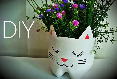 fazer plantas diy como fazer vaso de plantas gatinho artesanato e reciclagem garrafa pet