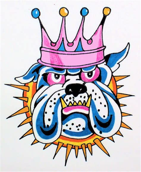 Ed Hardy Tattoos For Dogs by Ed Hardy Bulldog By Thejokesonyou On Deviantart