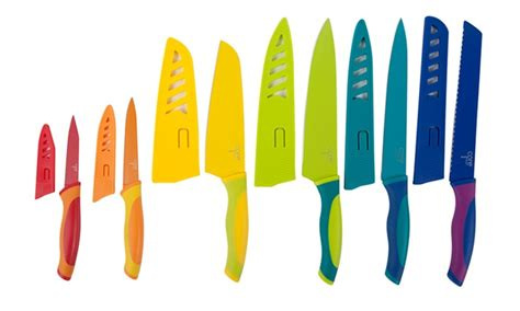 colorful kitchen knives kitchen colorful 6 knife set groupon