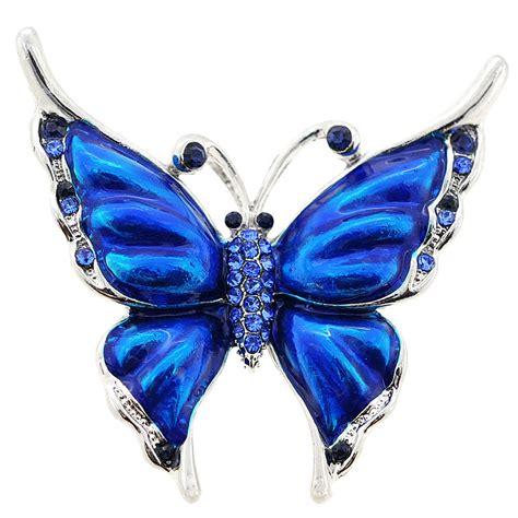 Sapphire Blue Butterfly Brooch/Pendant   Fantasyard