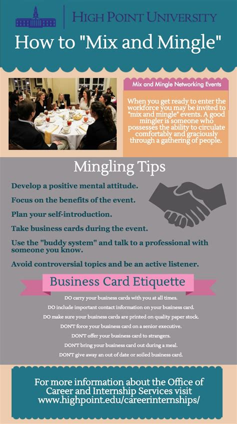 mix and mingle infographic how to mix mingle high point