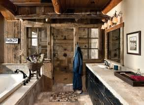 Rustic Bathrooms Designs panels bring rustic beauty to this bathroom design m t n design