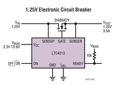 linear electronic circuits ltc4213 no rsense electronic circuit breaker elecena