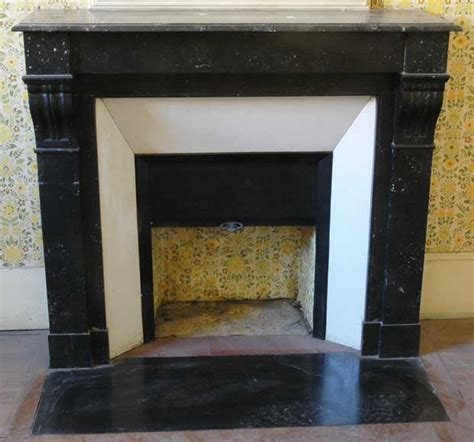 Black Fireplace Surround by Black Marble Fireplace Surround With Modillions Marble
