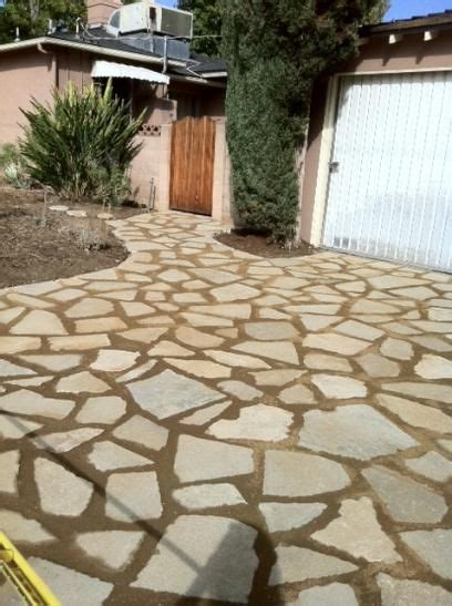 recycled concrete driveway patio outdoor kitchens