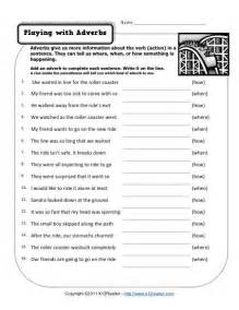 playing with adverbs free printable adverb worksheets