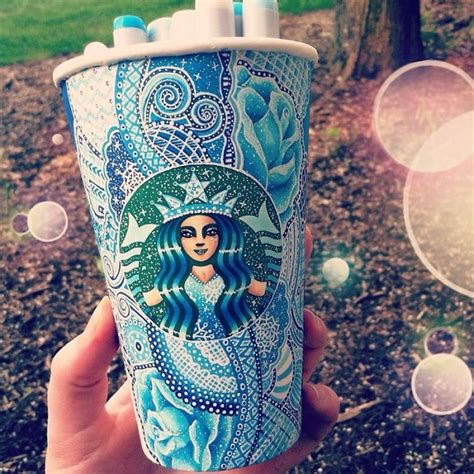 gorgeous starbucks cups decorated with eye catching