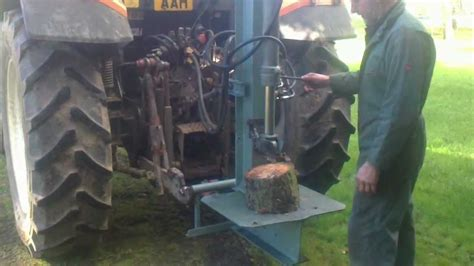 home made hydraulic log splitter tractor linkage mounted