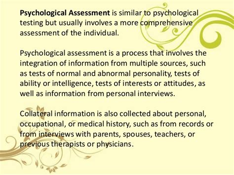 Behavioral Observation Psychological Report