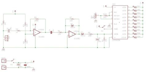 breadboard circuit practice mini decibels a simple volume meter with an electret mic lm3916