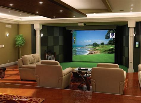 media room definition high definition golf simulator also becomes your home