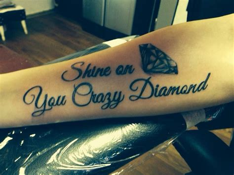 shine on you crazy diamond tattoo shine on you my pink floyd inspired