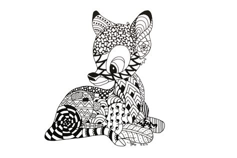 doodle pattern animals zentangle animals bambi zentangle by neverdoubtilove