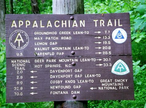 appalachian trail sections appalachian trail sections 100 hiked n2backpacking com
