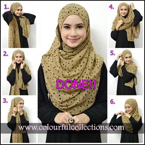 tutorial pashmina instan 1 lubang colourful collections tudung syria shawls pashmina