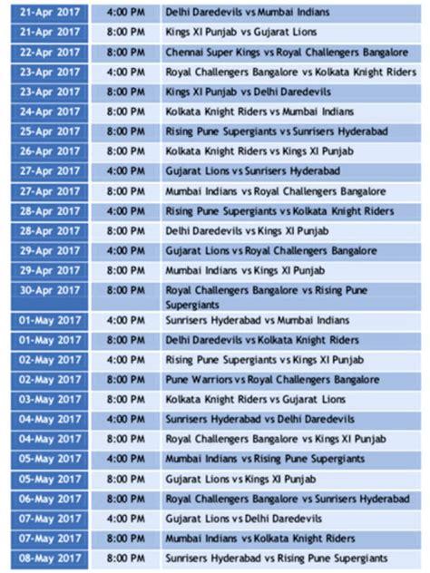 time table of ipl 2016 calendar template 2016 ipl 2016 time table download calendar template 2016