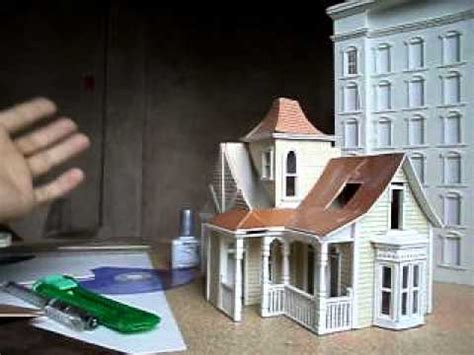 model houses to build how to make miniature building youtube