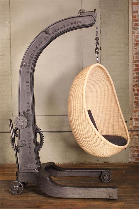 antique engine hoist nanna ditzel hanging egg chair getbackinc