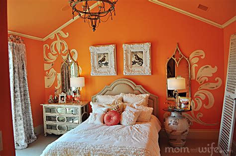 home design peach bedroom