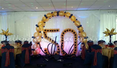 50th birthday balloon decorations