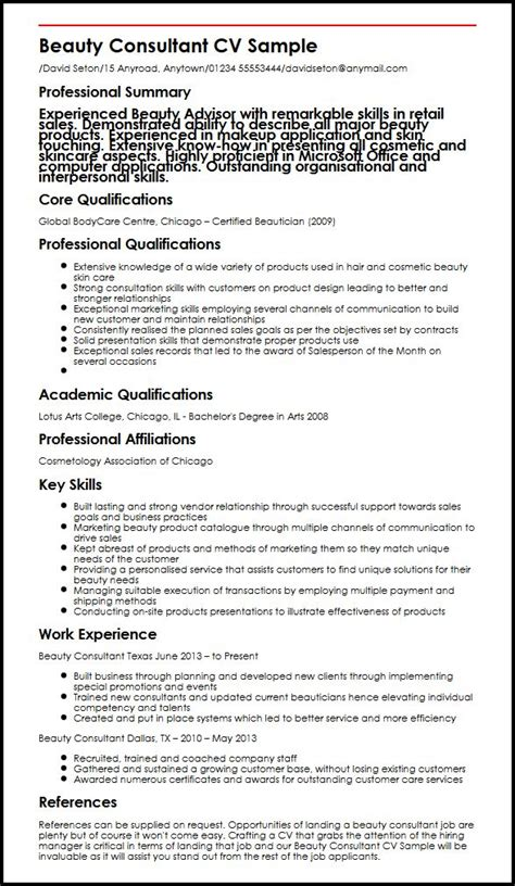 Beautician Cv Resume Sle Cosmetology Skills And Abilities For Resume 54 Images Therapist Resume Sle Resume Words