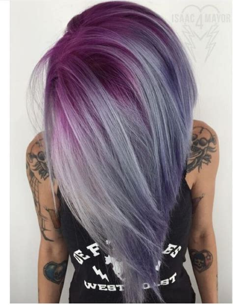 purple hair color thebestfashionblog com smokey gray ombre hair hair world magazine