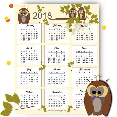 owl calendar template free printable 2018 owl calendar kalender freebie