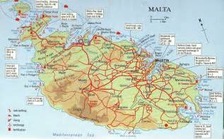 big map map malta and comino big map with interesting places
