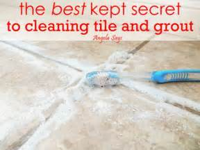 How To Clean Bathroom Tile Grout The Best Kept Secret To Cleaning Tile And Grout Angela Says