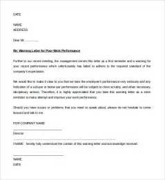 written warning template for attendance warning letter format letter format 2017