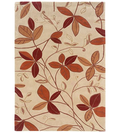Patterned Area Rugs 5 X 7 Trio Collection Leaf Area Rug In Patterned Rugs