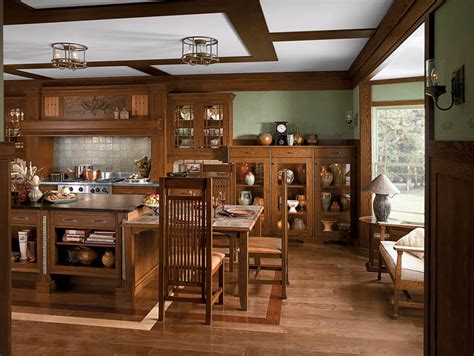 craftsman style home interiors kitchen single story