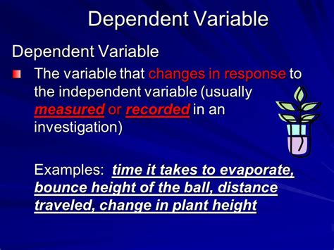 exle of dependent variable 5th grade investigation and experimentation skills ppt