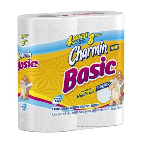 Who Makes Charmin Toilet Paper - charmin basic toilet paper 4 rolls pack of 10