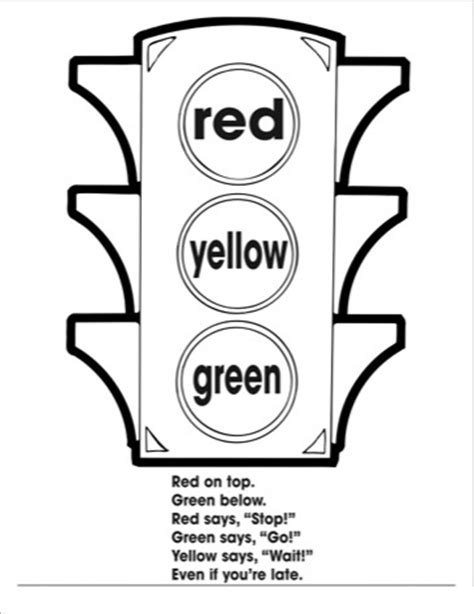 Traffic Light Coloring Worksheets Kıds 2 171 Funnycrafts Printable Coloring Pages For Adults Stop Light