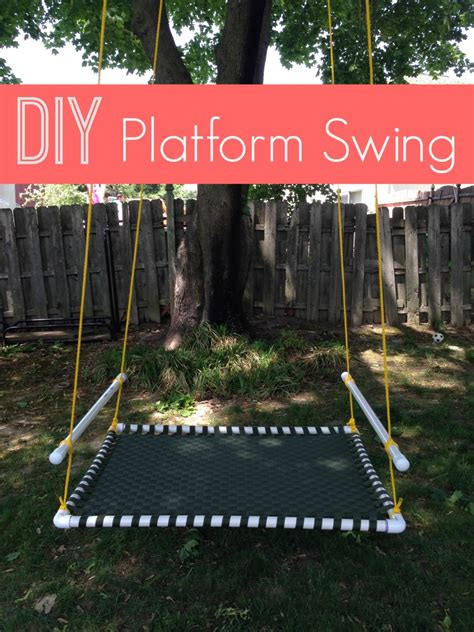 pvc pipe swing 22 diy garden swings you can bring to life almost