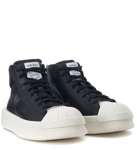 Adidas Nero Rubber rick owens adidas by rick owens ro mastodon promodel leather sneaker nero s sneakers