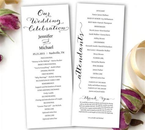 Wedding Program Printable Wedding Program Template Tea Length Printable Editable Ms Word Microsoft Word Wedding Program Templates 2