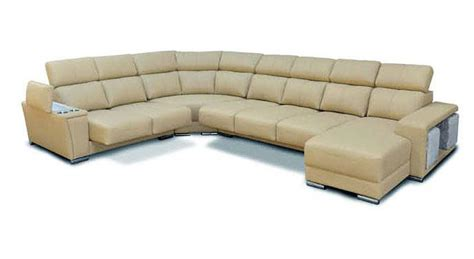 extra large leather sectional cream italian leather extra large sectional with cup