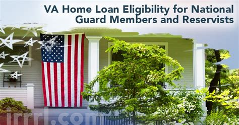 va home loan eligibility for national guard members and