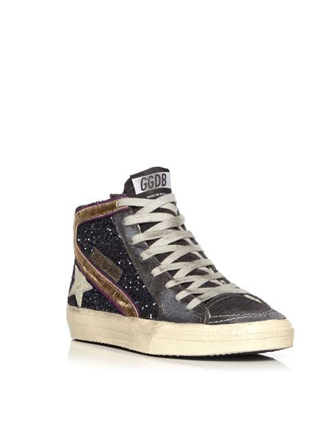 golden goose sneaker golden goose deluxe brand slide sneaker in blue lyst