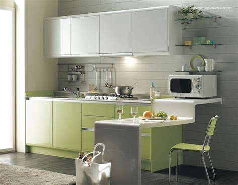 green kitchen is choice for a kitchen wall and