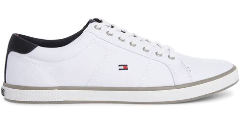hilfiger white sneakers hilfiger white harlow canvas sneakers in white for