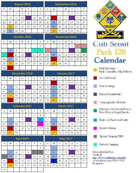 boy scout calendar template church primary on invitations ideas boy scout calendar