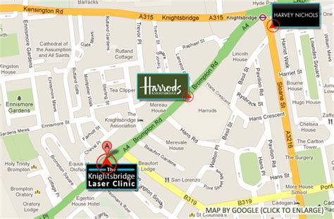 Harrods Floor Plan by Contact Us Ipl Laser Hair Removal London Amp Beauty