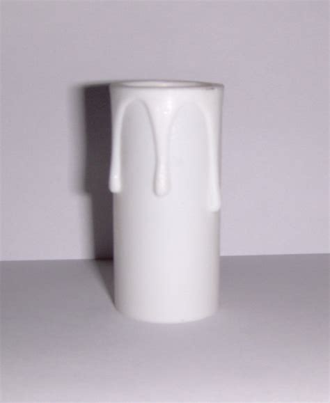 Chandelier Socket Covers 2 Quot White W White Drips Plastic Chandelier Socket Cover