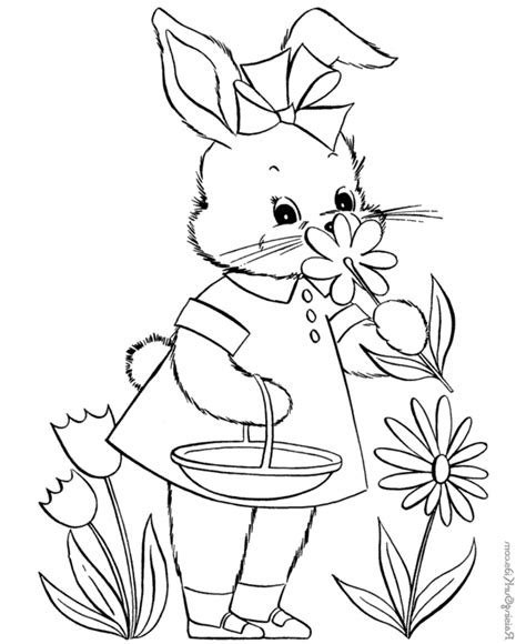 bunny coloring pages for kids coloring town