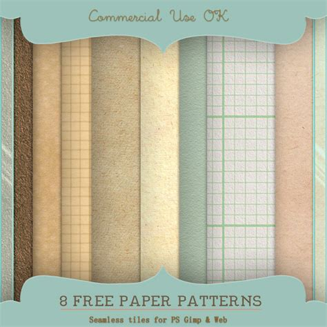 Paper Pattern Gimp | paper patterns for ps and gimp by starsunflowerstudio on