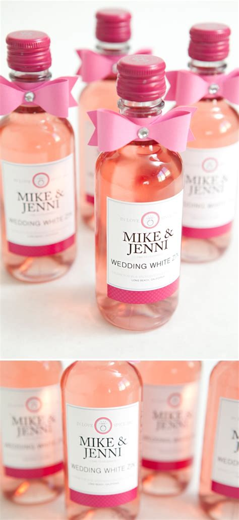 wine wedding shower favors learn how to make these chic wine bottle wedding favors