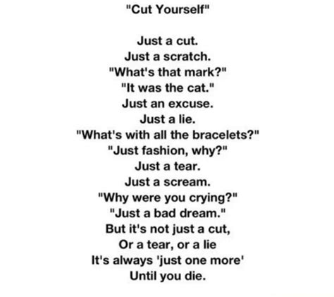 Just Like A Writer At The View by Quot Cut Yourself Quot Is A Horribly Beautiful Poem About